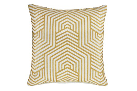 Accent Pillow-Aari Geometric Golden Yellow 20X20 - Main
