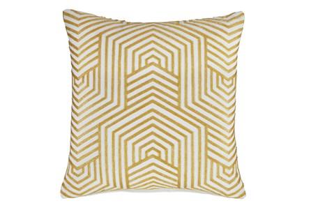 Accent Pillow-Aari Geometric Golden Yellow 20X20 - Main