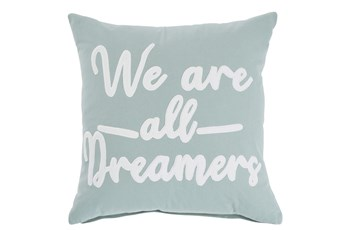 Accent Pillow-Velvet Dreams Slate Blue/White 20X20