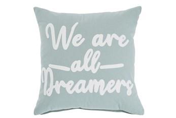 Accent Pillow-Velvet Dreams Slate Blue/White 20X20