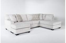 """Cambrie 124"""" 2 Piece Dual Chaise Sectional With Left Arm Facing Sofa Chaise"""