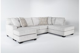 "Cambrie 124"" 2 Piece Dual Chaise Sectional With Left Arm Facing Sofa Chaise"