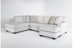"""Cambrie 124"""" 2 Piece Dual Chaise Sectional With Right Arm Facing Sofa Chaise"""