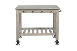 Weathered Grey Kitchen Cart