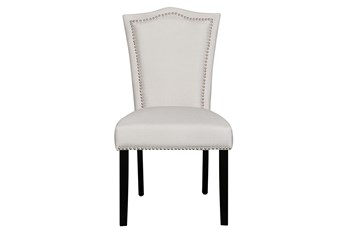Grey Nailhead Dining Chair