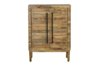 Brown Rustic Stacked Bar Cabinet
