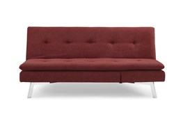 Chicago Red Convertible Sofa With Chaise