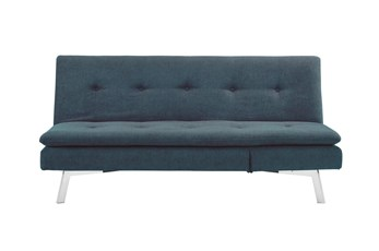 Chicago Blue Convertible Sofa With Chaise