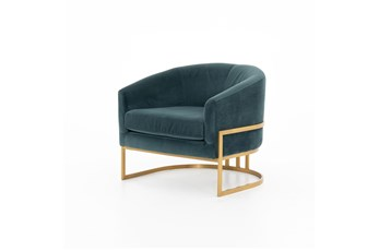 Jaspar Velvet + Brass Chair