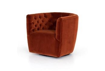 Hanover Swivel Chair-Sapphire Rust