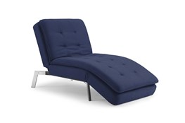 Breeze Dark Blue Convertible Chaise