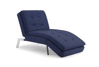 Breeze Dark Blue Convertible Chaise