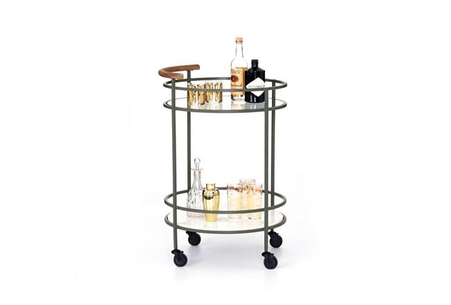 Dempsey Bar Cart-Sage Green - 360