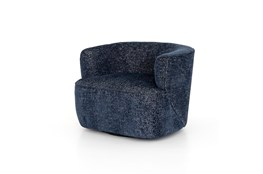 Mila Swivel Chair-Comal Azure