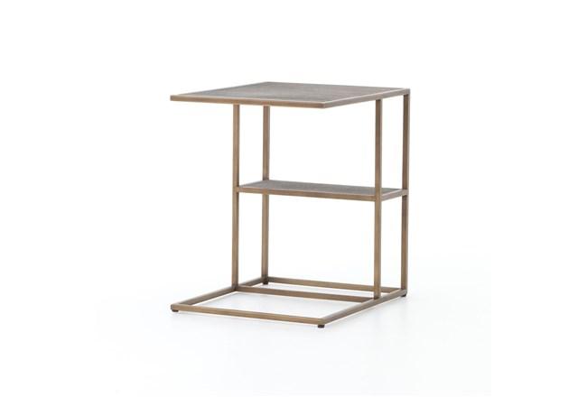 Shagreen C Table-Antique Brass - 360