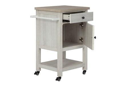 Badger Antique White Bar Cart - Main