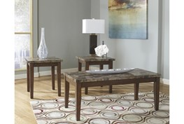 Ted Warm Brown 3 Pc Occasional Table Set