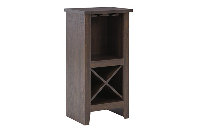 Ternly Brown Wine Cabinet - 360