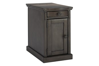 Lorry Gray-Tone Chairside End Table