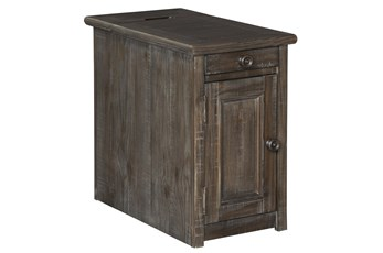 Wynd Rustic Brown Chairside End Table