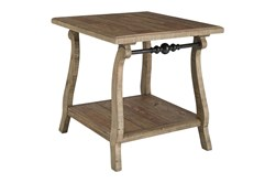 Dabble Two-Tone Rectangular End Table