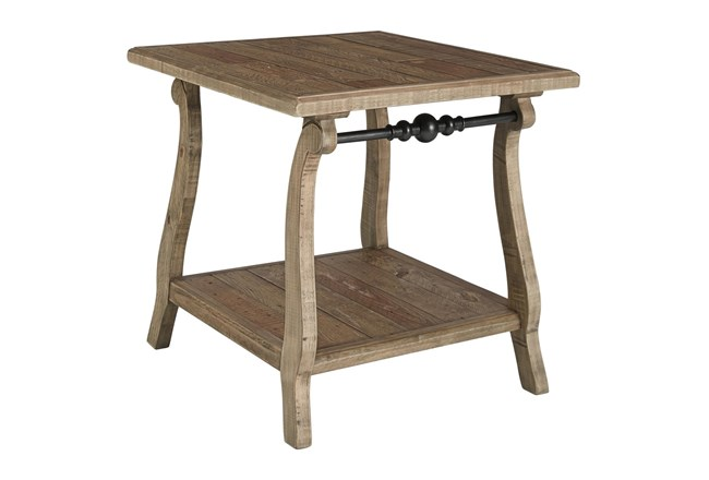 Dabble Two-Tone Rectangular End Table - 360