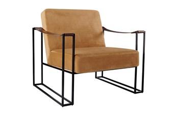 Orange Mid Century Accent Chair
