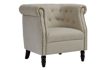 Barrel Natural Tufted Accent Chair