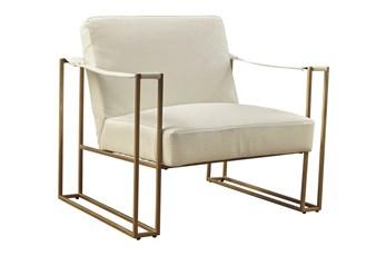 Cream Mid Century Accent Chair