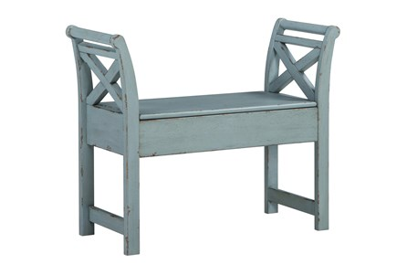 Blue Small Accent Bench - Main