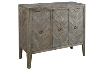 Antique Gray Accent Cabinet