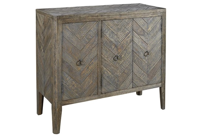 Antique Gray Accent Cabinet - 360