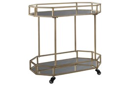 Gold Finish Bar Cart