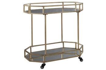 Gold Finish Bar Cart