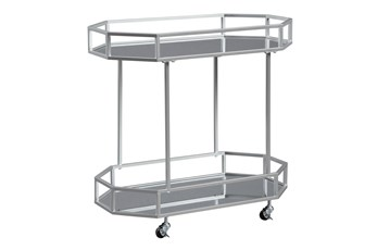 Silver Finish Bar Cart