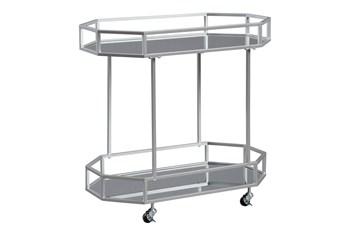 Silver Finish Bar Cart