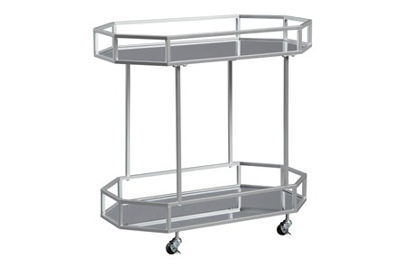 Silver Finish Bar Cart - Main