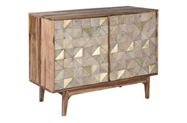 Brown + Gold Accent Cabinet