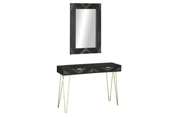 Black + Gold Vanity