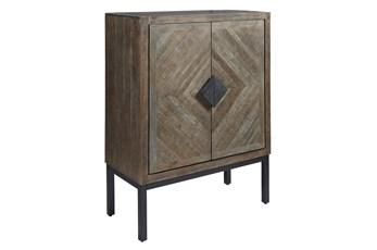 Antique Grey Bar Cabinet