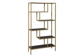 Gold Geometric Finish Bookcase