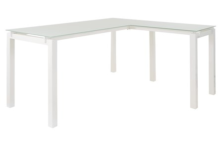 Remy White L-Desk - Main