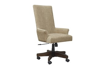 Rustic Brown Swivel Desk Chair