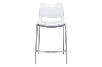 "Rondo White 25"" Counter Chair Set Of 2"