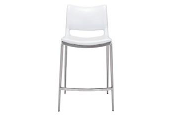 "Rondo White 25"" Counter Chair Set Of 2"