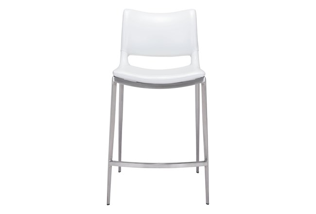 "Rondo White 25"" Counter Chair Set Of 2 - 360"