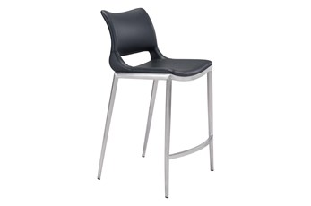 Ace  Black 26 Inch Counter Chair Set Of 2
