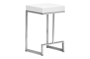 "Copley White 26"" Counter Stool Set of 2"