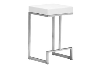 """Copley White 26"""" Counter Stool Set of 2"""