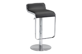 Equinox Black 31 Inch Adjustable Barstool